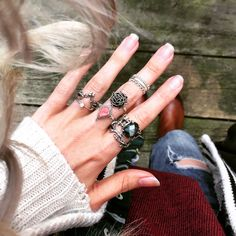✧ ✧ Head on over to the dark side and shop our brand new Raised By Wolves Collection now! ✧ ✧ www.shopdixi.com ✧✧ // shop dixi // bohemian jewellery // boho // grunge // hippie // rings // opal // onyx // gothic // mystic // gypsy jewels // unique rings// crescent moon // gemstones // autumn