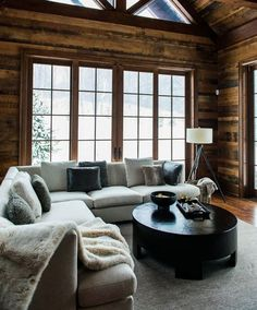 Stuck with a dark rustic house and I hate it! Stuck with a dark rustic house and I hate it! Cabin Homes, Log Homes, Home Theaters, Cabin Interiors, Mountain Home Interiors, Modern Interiors, Rustic Interiors, Cozy House, Cozy Cabin