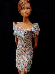 Barbie Basics Model #08 wears a crochet dress by Shortcut/Patty 2 | Flickr - Photo Sharing!