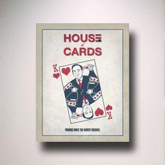 Château de cartes affiche / Print / par EntropyTradingCo sur Etsy