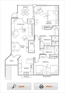 Sheraton Vistana Villages Orlando Fl Example 2 Bed Villa Floorplan Disney Pinterest Villas
