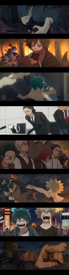 Characters: Fumikage Tokoyami, Dabi, Tenya Iida, Midoriya Izuku, Nedzu, Aizawa Shouta, Todoroki Shouto, Kirishima Eijirou, Momo Yaoyorozu, Katsuki Bakugou, All Might