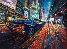 "Saatchi Art Artist jixing sun; Painting, ""Times Square # 1"" #art"