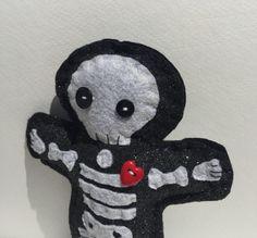 BettysWhimsies @ Etsy ... https://www.etsy.com/listing/384799834/felt-creature-black-glitter-skeleton?ref=shop_home_active_6