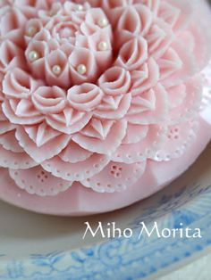 make small holes by using a toothpick to create lace on soap