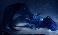 winter, cold, dragon, wiiolis, fantasy, dark
