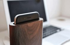 Mindful Dock •• Distraction-free wooden dock for iPhone 6 by Mindful Design — Kickstarter