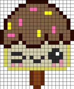 IceCream Perler Bead Pattern | Bead Sprites | Food Fuse Bead Patterns