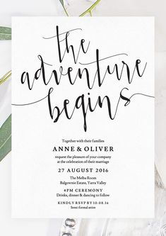 The adventure begins with this rustic wedding invitation by The Printable Shop www.theprintableshop.com #rusticweddinginvitation #weddinginvitation #theadventurebegins #weddingadventure #editable #editablepdf