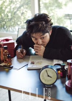 Korean actor Gong Yoo Elle Magazine October 2015 Photoshoot Interview
