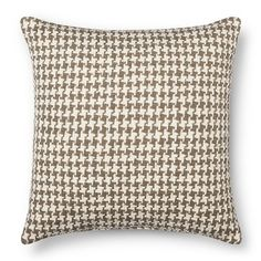 Throw Pillow Houndstooth Neutral Oversized - Threshold™ : Target