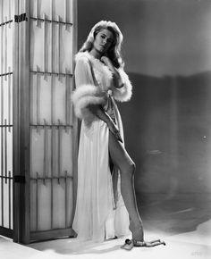 Elizabeth Montgomery in a Glamorous Vintage Peignoir Set (Very Bewitching)