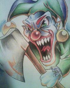 by Darxen on DeviantArt Joker Drawings, Creepy Drawings, Evil Clowns, Scary Clowns, Evil Clown Tattoos, Jester Tattoo, Evil Jester, Graffiti Tattoo, Insane Clown Posse