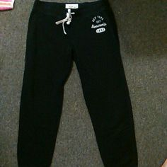 Black Abercrombie and Fitch Sweatpants