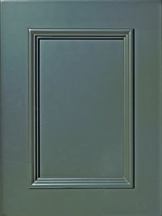 """Napa Flat Panel Door with Applied Moulding  Available Material: MDF Color Shown: Gun Metal Gray Paint Available in All Outside Profiles - Shown with 18"""" Roundover Outside Profile Door Frame Molding, Panel Moulding, Cabinet Door Styles, Cabinet Doors, Gray Paint, Face Framing, Custom Cabinetry, Panel Doors, Home Renovation"""