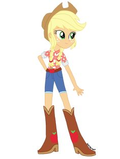 I didn't really like some of the Equestria Girls designs My Little Pony made so I'm redrawing them. Applejack was born in poverty, and even now the Apple family still has a low income. My Little Pony 1, My Little Pony Drawing, Little Poney, My Little Pony Pictures, My Little Pony Friendship, Baby Disney Characters, My Little Pony Characters, Twilight Sparkle Equestria Girl, Beautiful Dark Art