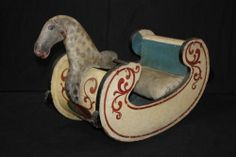 19thC Antique Primitive Carved Painted Folk Art Rocking Horse Sliegh | eBay