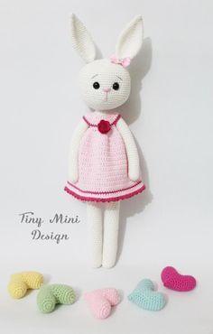 Free Crochet Amigurumi Cracker Girl Bunny Turkish and English Pattern (scroll down) 3 parts