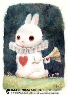 White rabbit when he was in elementary school.