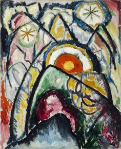 """Painting No. 1,"" Marsden Hartley, 1913, oil on canvas, 39 1/8 x 31 3/4"", Sheldon Museum of Art,"