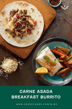 Breakfast Ideas, Breakfast Recipes, Vegetarian Burrito, Cilantro Lime Cauliflower Rice, Cauli Rice, Mexican Food Recipes, Ethnic Recipes, Carne Asada, Breakfast Burritos