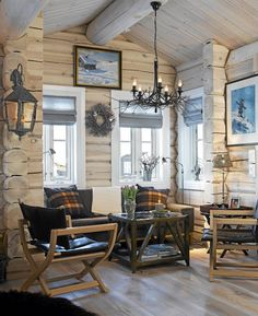 Why You Should Consider Buying a Log Cabin - Rustic Design Log Cabin Living, Log Cabin Homes, Log Home Interiors, Modern Log Cabins, Interior Exterior, Decoration Design, Home Design, Cabin Design, Design Ideas