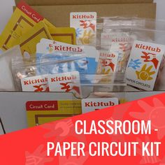 Grades: K-8 Skill level: Beginner-Intermediate Time: 1-2 hours Students: 12 The Classroom Paper Circuit kit pairs art and humanity subjects with electronics. With this project, kids will learn how to