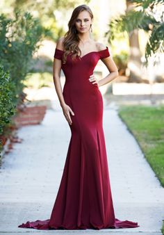 Silhouette; Mermaid Neckline; Off-The-Shoulder Waist Style; Natural Dress Length; Long Fabric; Silk Available Colors; Red, Navy Blue, Purple, Blue, Black, Green Click to discover what pageant store near you carries this dress!