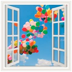 Walls 360 Peel  Stick Wall Decals Window Views Balloons Floating In The Sky 24 in x 24 in >>> You can get more details by clicking on the image. (This is an affiliate link and I receive a commission for the sales)