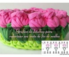 Make and sell: Mesh yarn bag with dot chart ⋆ Facing The Sea Crochet Mandala Pattern, Crochet Stitches, Crochet Hooks, Crochet Patterns, Crochet T Shirts, Crochet Blouse, Crochet Clothes, Crochet Double, Crochet Mask