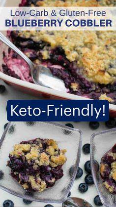Keto Desert Recipes, Healthy Low Carb Recipes, Ketogenic Recipes, Blueberry Recipes Easy, Ham Recipes, Low Carb Crockpot Recipes, Simple Low Carb Meals, Healthy Blueberry Desserts, Low Carb Food