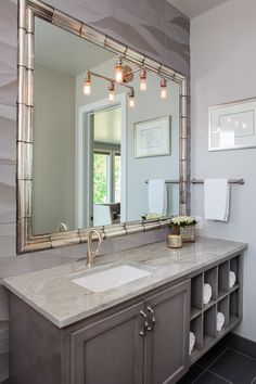 Artistic Tile | Charleston Mirror Grande Hand Silvered | Metallurgy meets chemistry in the Charleston Mirror™ Collection. Handmade using traditional techniques by skilled artists, this exquisite mirrored glass is painstakingly created piece-by-piece using a classic antiquing process.