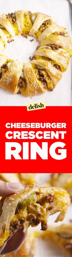 This cheeseburger crescent ring is the smartest way to feed your hungry squad. Get the recipe on Delish.com.