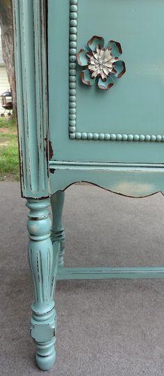 {createinspire}: Radio Cabinet Revamp - love this colour.