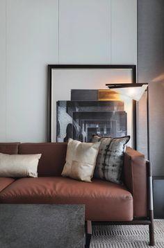 Hotel Room Design, Lounge Design, Minimalist Sofa, Minimalist Design, Minimalist Lifestyle, Minimalist Decor, Simple Living Room, Small Living, Deco Furniture