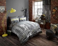 Grey Black White New York Bedding Statue of Liberty Queen King Duvet/Comforter Cover Set Plaid Bedding, Grey Bedding, Luxury Bedding, Linen Bedding, Bedding Sets, Custom Bedding, Bed Linens, Duvet Cover Sale, Comforter Cover