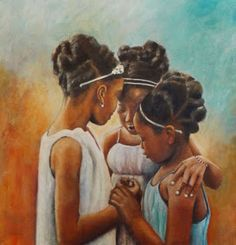 Super african art for kids daughters Ideas Black Art Painting, Black Artwork, Black Girl Art, Art Girl, Black Girls, Natural Hair Art, Black Art Pictures, By Any Means Necessary, Art Africain