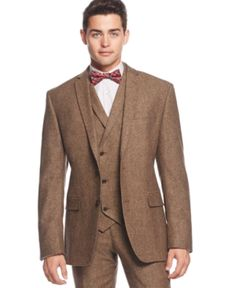 Best selling mens 1920s style suit with vest and pants. Brown Tweed  AT vintagedancer.com