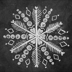 How to Draw 3 Snowflakes for a Holiday Chalk-Art Sign snowflake chalk art Chalkboard Doodles, Chalkboard Drawings, Chalkboard Lettering, Chalkboard Designs, Chalk Drawings, Chalkboard Paint, Blackboard Art, Lettering Ideas, Chalkboard Ideas
