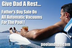 Get Dad An Automatic Pool Vacuum For Father's Day! Above Ground Pool, In Ground Pools, Swimming Pool Cleaners, Swimming Pools, Automatic Pool Vacuum, Fathers Day Sale, Great Father's Day Gifts, Cool Gear, Pool Cleaning