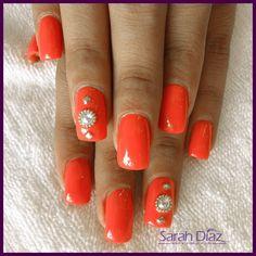uñas naranjas en este verano !!