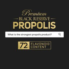 Our Black Reserve Propolis delivers a superior dose of flavonoids in each capsule, when compared to other brands available in the market, making this one of the strongest Propolis products on the market!   Containing 72 flavonoids per 6000mg softgel capsule, Black Reserve Propolis provides potent support for the immune system.  > Superior dose of 72mg flavonoids per capsule > 50% more potent than our Mānuka South Extra Strength Propolis > Natural protective system designed to support… Balanced Diet, Immune System, Strength, Natural, Black, Products, Black People, Nature, Gadget