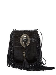 f00a37c0a Anita Small Embossed Leather Crossbody by Saint Laurent Paris at Gilt