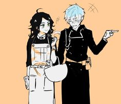 Rin and his mother (TwT) Rin Okumura, Rin And Shiemi, Ao No Exorcist, Blue Exorcist Anime, Blue Exorcist Cosplay, Fullmetal Alchemist, Black Buttler, Love Blue, Chibi