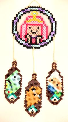 Adventure Time Dream Catcher Perler Beads by ThatsTheBeadsKnees