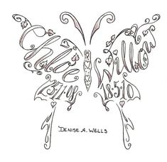 Butterfly-Shaped Names by Denise A. Wells| she has a variety of motherhood-related tattoo designs on her Flickr stream.   Source: Denise A. Wells/Flickr