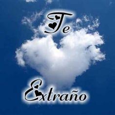 Te Extraño imagen #5215 - Te Extraño Tags: Corazones, Nubes. Imágenes y fotos de 'Te Extraño' con frases para facebook, whatsapp y twitter.