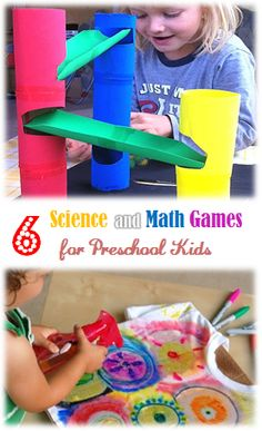 6 science and math games for preschool kids #LearnActivities