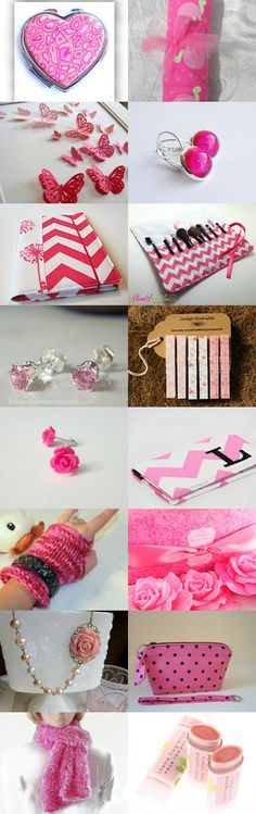 Pink Handmade Gift Ideas by Jenn Surprenant on Etsy--Pinned with TreasuryPin.com