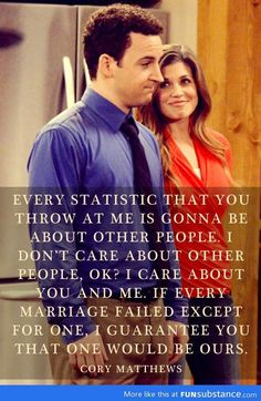 Boy meets world - Corey and Topanga